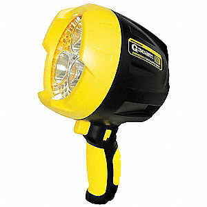 LED, Plastic, Black, 9.00""