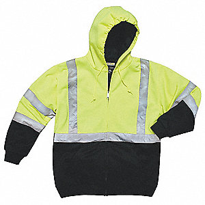 High Visibility Hooded Sweatshirt