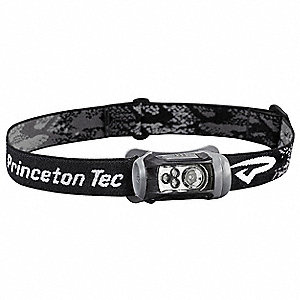 LED Headlamp, Plastic, 10,000 hr. Lamp Life, Maximum Lumens Output: 150, Black