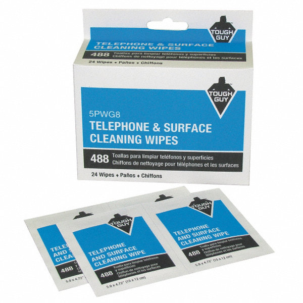 tough guy phone wipes recommended for use on telephones