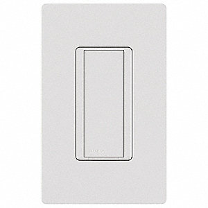 120VAC Wireless Wall Switch, Rocker, White, 8 Amps
