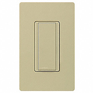 277VAC Wireless Wall Switch, Rocker, Ivory, 8 Amps