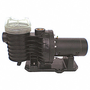 1-1/2 HP In-Ground Swimming Pool Pump, Capacitor Start, 19.4/9.7 Amps