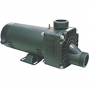 1 HP Self-Draining Jetted Tub Pump, Capacitor Start, 14.5/7.3 Amps