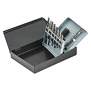 High Speed Steel Drill and Tap Set, Number of Pieces: 18, Tap Style: 5353
