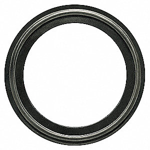 "Tri-Clamp Gasket, 1.874"" Inside Dia., 2.520"" Outside Dia., BUNA, 2"" Tube Size"
