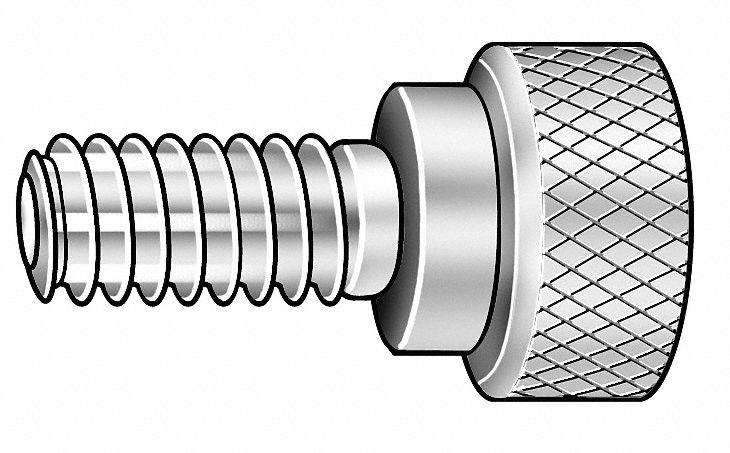 100//Bulk Pkg. 8-32x3//4 Captive Panel Screws Type 4 Stainless Steel