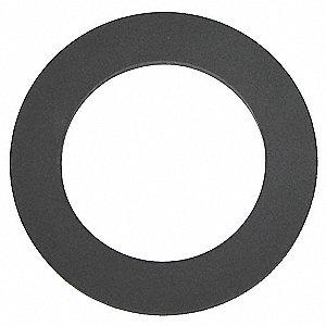 "Bevel Seat Gasket, 2.340"" Inside Dia., 2.95"" Outside Dia., BUNA, 2-1/2"" Tube Size"