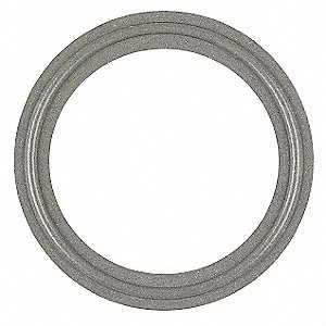 "Tri-Clamp Gasket, 1.874"" Inside Dia., 2.520"" Outside Dia., Tuf-Steel®, 2"" Tube Size"