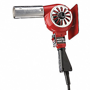 Electric Heat Gun 120VAC, Variable Temp. Settings, 300° to 500°F