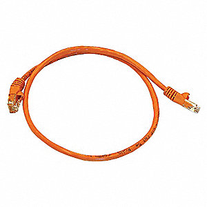 PATCH CORD,CAT5E,2FT,ORANGE
