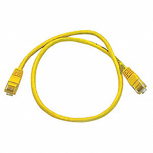 PATCH CORD,CAT5E,2FT,YELLOW