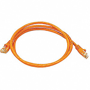 3 ft. Booted 5e Voice and Data Patch Cord, Orange