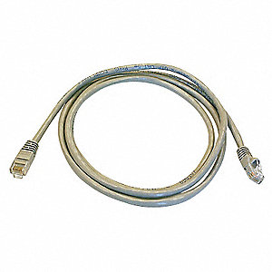 5 ft. Booted 5e Voice and Data Patch Cord, Gray