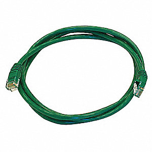 5 ft. Booted 5e Voice and Data Patch Cord, Green