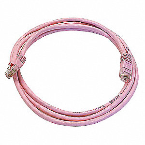 PATCH CORD,CAT5E,5FT,PINK