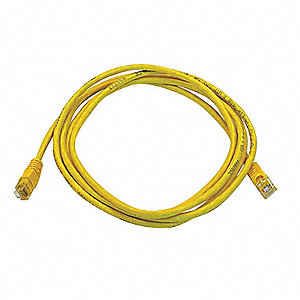7 ft. Booted 5e Voice and Data Patch Cord, Yellow