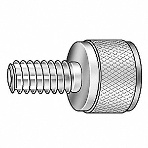 Thumb Screw,Knurled,5/16-18x3/4 L