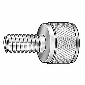 Thumb Screw,Knurled,3/8-16x3/4 L,Stl