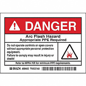 Arc Flash Protection Label,PK5