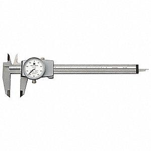 "0-6"" Range Stainless Steel Inch Dial Caliper with 0.001"" Graduations"