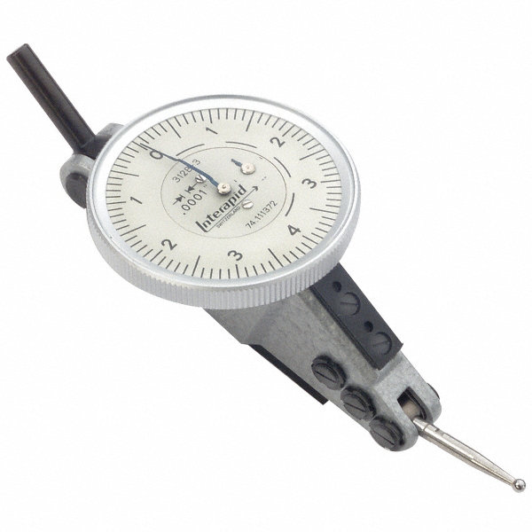 Starrett Dial Indicator >> INTERAPID Dial Test Indicator,Hori,0 to 0.016 In - 5RCK8|312B-3 - Grainger