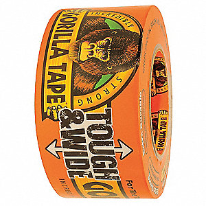 "30 yd. x 2.88"" Synthetic Polymers, Natural/Synthetic Rubbers Duct Tape, Black"