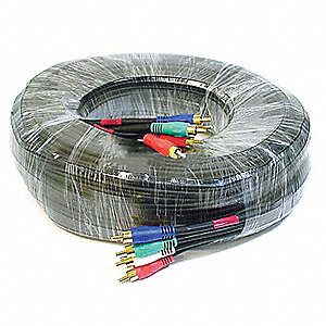 RCA Cable,RG-59/U,5 RCA,50 ft.