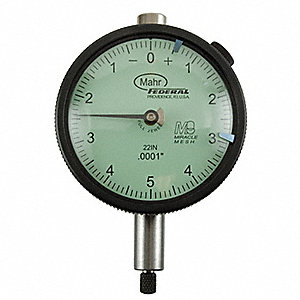"Balanced Reading Dial Indicator, AGD 2, 2.250"" Dial Size, 0 to 0.125"" Range"