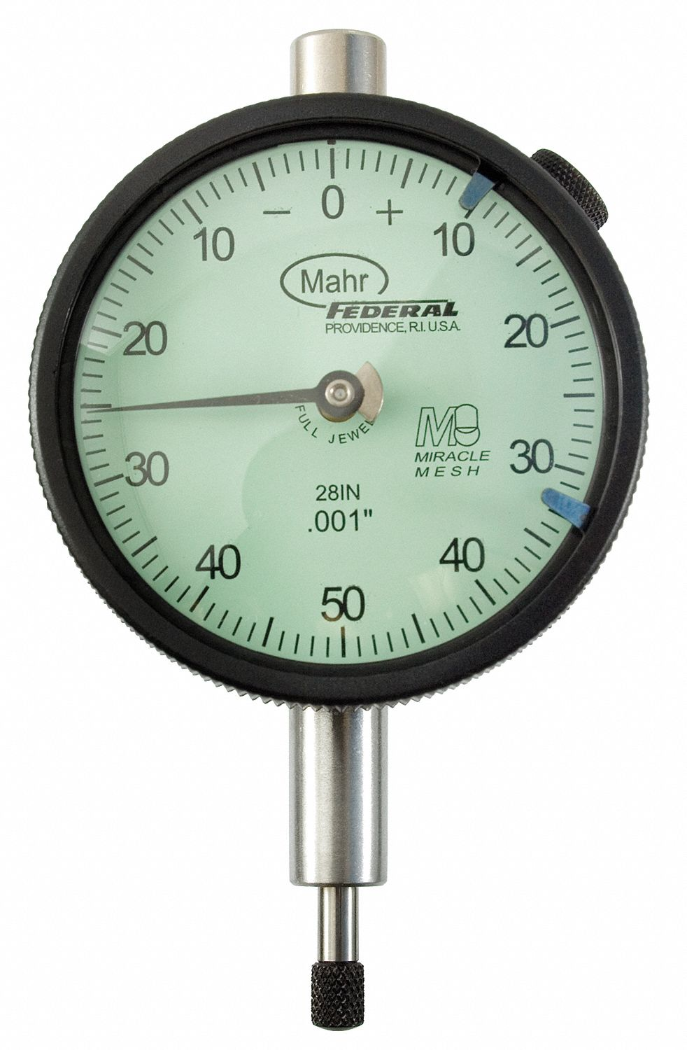 Dial Indicator - Lug Back,  Range 0 in to 0.25 in,  Back Type Lug,  Reading Balanced