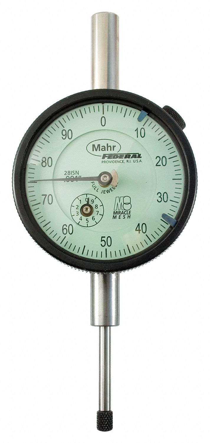 Dial Indicator - Lug Back,  Range 0 in to 1 in,  Back Type Lug,  Reading Continuous