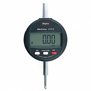 "Electronic Digital Indicator, 0.500""/12.7mm Range, 0.0005""/0.01mm Resolution, 0.001""/0.025mm Accurac"
