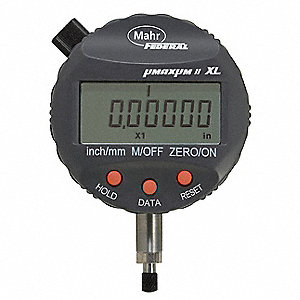 "Electronic Digital Indicator, ±0.040"" Range, 0.00001, 0.00002, 0.00005, 0.0001, 0.0005, 0.0002, 0.00"
