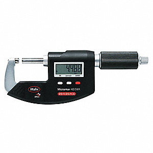 "Ratchet Thimble Electronic Digital Micrometer, 0 to 1""/0 to 25mm Range (In./mm)"