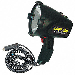 Halogen General Purpose Spotlight, ABS Plastic, Black, 10.00""