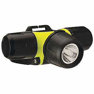LED Industrial Headlamp, ABS Plastic, 30,000 hr. Lamp Life, Maximum Lumens Output: 200, Yellow