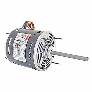 3/4 to 1/5 HP Direct Drive Blower Motor, Permanent Split Capacitor, 1075 Nameplate RPM, 115 Voltage