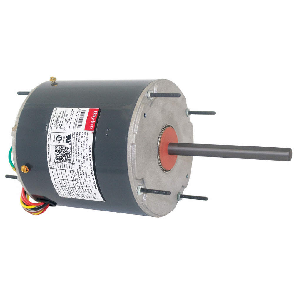 DAYTON 1/2 to 1/5 HP Condenser Fan Motor,Permanent Split Capacitor ...