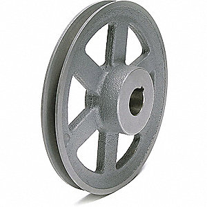 "V-Belt Pulley,1""Fixed,10.25""OD,CastIron"