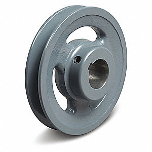 "5/8"" Fixed Bore Standard V-Belt Pulley, For V-Belt Section: 3L, 4L, A, AX"