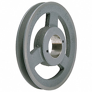"V-Belt Pulley,Detachable,1Groove,9.75""OD"