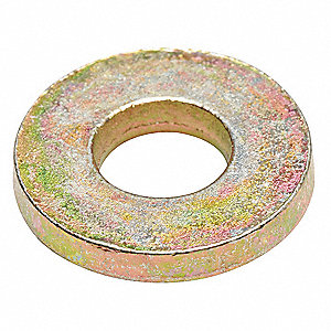 "5/16""x7/8"" O.D., Extra Thick USS Washer, Steel, Low Carbon, Zinc Yellow, PK100"
