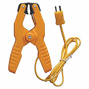 Pipe Clamp Temp Probe,Type K,-4 to 200F
