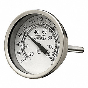 Bimetal Thermom,2 In Dial,0 to 250F
