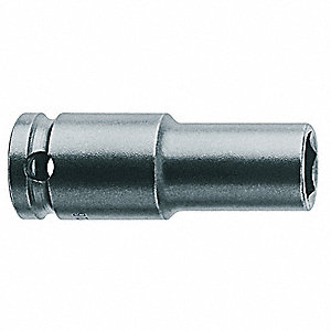 Impact Socket,3/8 In Dr,9/16 In,6 pt