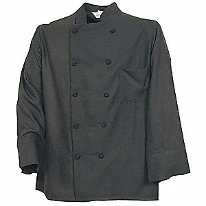 Unisex Chef Coat, L, Black
