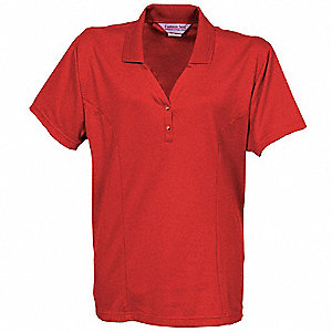 Women's  Knit Shirt, L, Metro Red