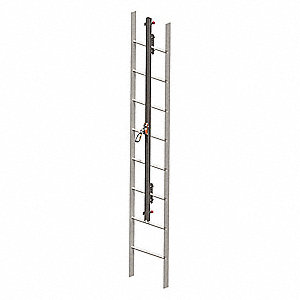 Vertical Access Ladder System Kit, 30 ft. Length, Permanent Installation, 1 Workers Per System