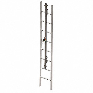 Vertical Access Ladder System Kit, 60 ft. Length, Permanent Installation, 1 Workers Per System