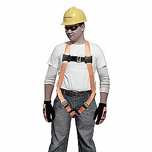 Universal General Industry Full Body Harness, 5000 lb. Tensile Strength, 400 lb. Weight Capacity, Bl